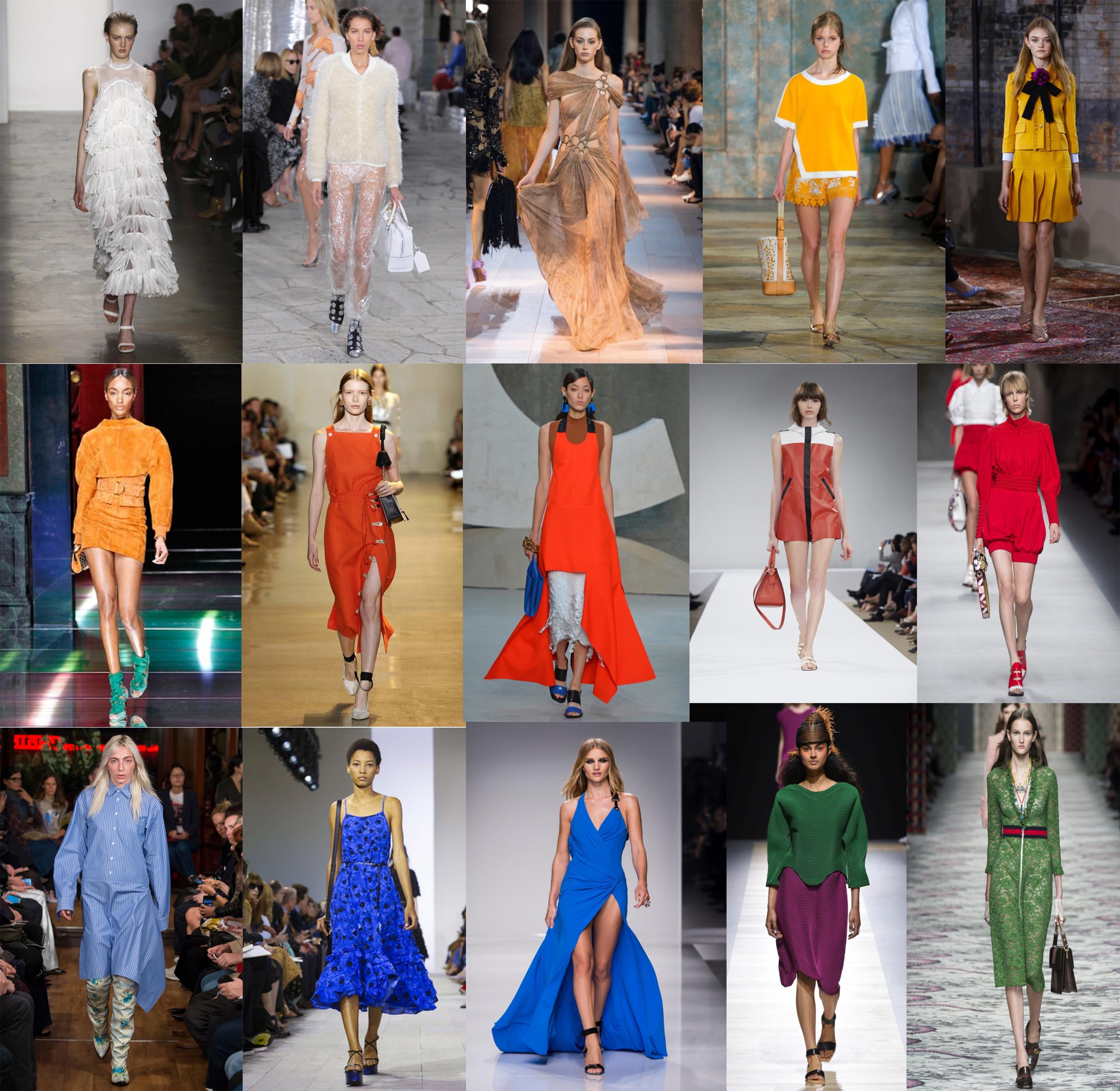 2016-os tavaszi – nyári szezon szín trendjei egyenesen a kifutóról